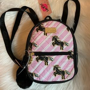 Betsey Johnson Unicorn Mini Backpack